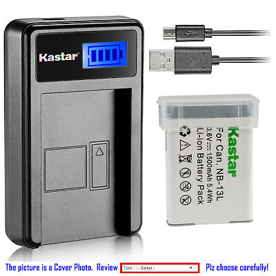 Kastar Battery LCD Charger for  Canon NB-13L CB-2LH & Canon PowerShot SX730 HS