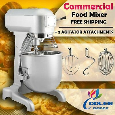 1HP 10 Qt Commercial Dough Food Mixer Gear Driven Pizza Bakery 1 Speed NEW