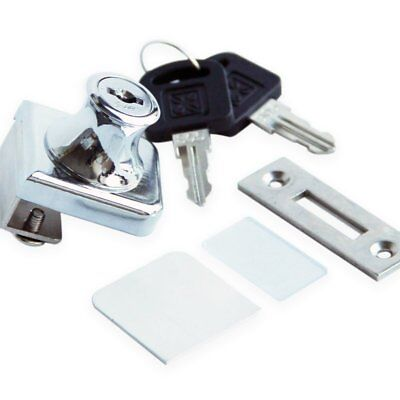 Glass Display Cabinet Showcase Lock For ��� Glass Door No Drill With 2 Keys  Chr