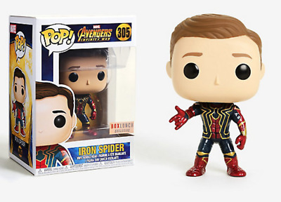 Funko Pop Marvel Avengers Infinity War IRON SPIDER Unmasked Box Lunch IN HAND