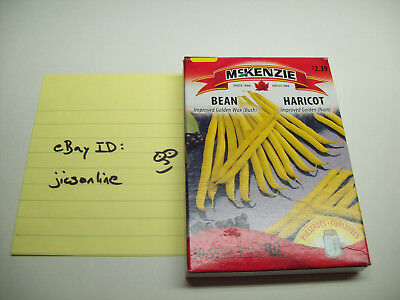 Improved Golden Wax Bush Bean Seeds Box SHIPS FAST FROM CANADA