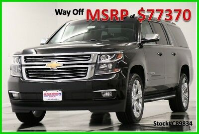 Chevrolet Suburban MSRP$77370 4X4 Premier DVD GPS Sunroof Leather Black 4WD