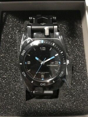 RRP £499.99 Leatherman Tread Tempo Wearable Multitool Watch Black Stainless NEW
