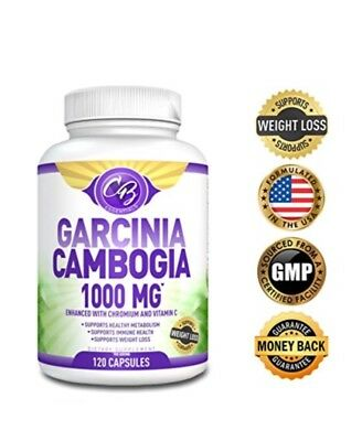 100% Pure Garcinia Cambogia Extract for Weight Loss 1000 mg 120 ct Ultra Premium