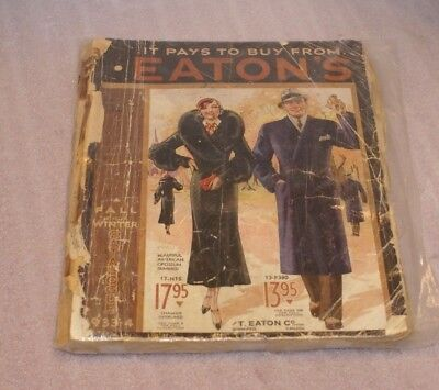 1933-34 Eaton`s Fall&Winter Catalogue Clothes, Toys, Watches, Mid-century& More