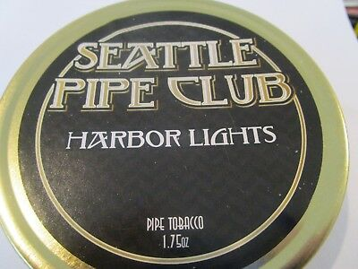 SEATTLE PIPE CLUB HARBOR LIGHTS SEALED Collectible Pipe Tobacco Tins  1.75 OZ.