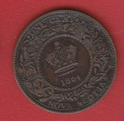 Nova Scotia 1 Cent 1864