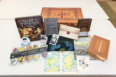 Game of Thrones Autographed Collectible Gift Box PRINT, BOOK, COIN, SHIRT, MORE!
