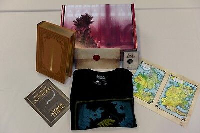 Game of Thrones Collectible Illustrated Hardcover Book Gift Box Coin More!