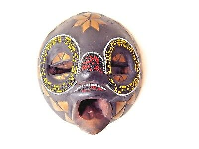 African Ghana Wood Tribal Face Mask hand made