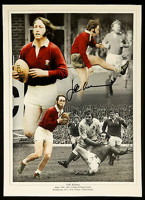 Jpr Williams Wales Rugby Legend Signed 12x16 Montage : New