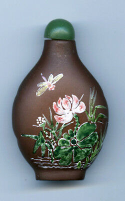 Vintage Chinese Yi  Xing Snuff Bottle