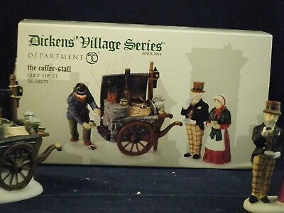 """Department 56 Dickens Village """"The Coffee-Stall""""  #56.58571 New"""
