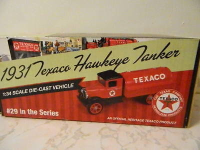 1931 TEXACO Hawkeye Tanker 1/34 DIECAST MODEL Bank BY ERTL NEW!  COA
