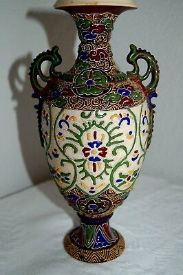 "Antique Chinese Oriental Porcelain Ceramic Vase 10"" Tall Beautiful"