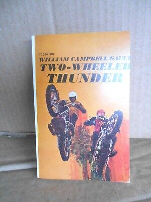 William Campbell Gault, Two Wheel Thunder Scholastic 1971 Excellent