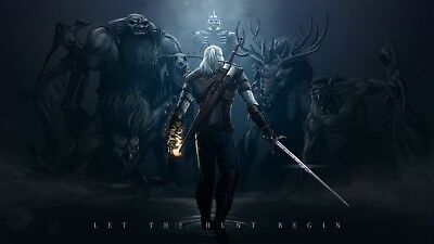 """The Witcher 3 Wild Hunt Hot Game Art Silk Poster 42""""x24"""""""