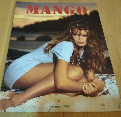 Claudia Schiffer MANGO Spain cataloge Summer 1992. COLLECTIBLE