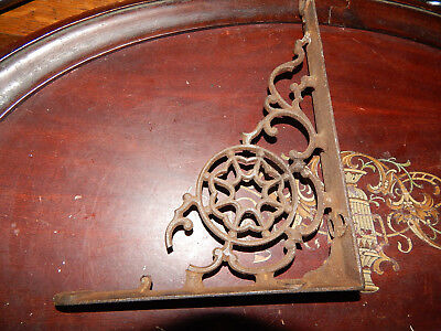 "1 Ornate Antique Charming Victorian Cast Iron Shelf Bracket only 1 5.75"" x 7.75"""