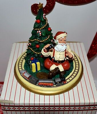 """Coca Cola Heritage Collection """"Santa With Train"""" 1999 - #4 of 5000 Authenticate"""