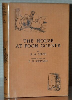 1St/1St Edition W. Original Jacket ~ The House At Pooh Corner ~ A.a. Milne