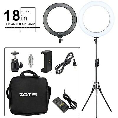 Zomei 18in LED Ring Light Dimmable Continuous Lighting Kit Video Camera Studio
