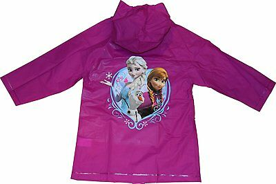 Disney Frozen Elsa Anna Girls Hooded Rain Coat Jacket Waterproof Youth Toddler