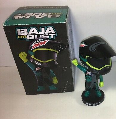 RARE MOUNTAIN DEW Baja Blast BAJA OR BUST Bobblehead TACO BELL Original IN BOX