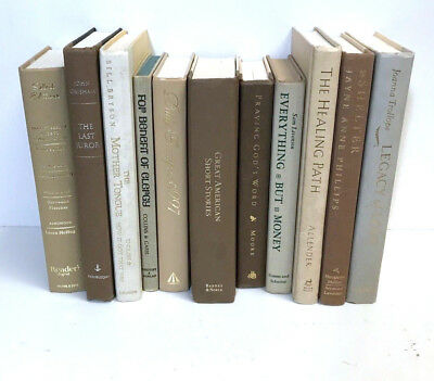 5 WHITE/CREAM/GRAY modern/chic/shabby Authentic Decorative Staging Books Lot