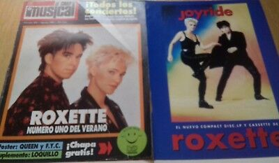 Roxette Early Clippings Collection From Spain. Lote De Prensa