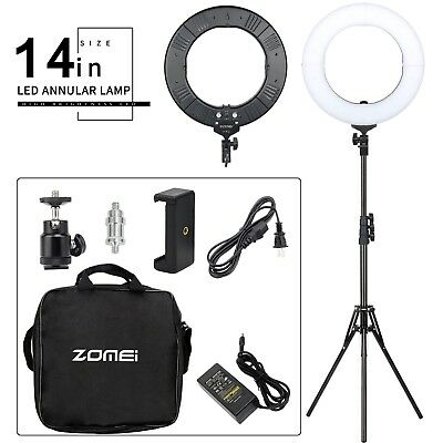Zomei 14in LED Ring Light Dimmable Continuous Lighting Stand Kit for Video DV