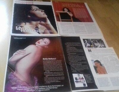 Monica Bellucci CLIPPINGS COLLECTION FROM. Spain. LOTE DE PRENSA. FREE SHIPPING!