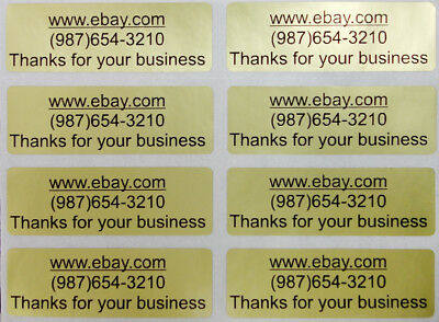 100 Silver Personalized business address number website name stickers Labels Tag