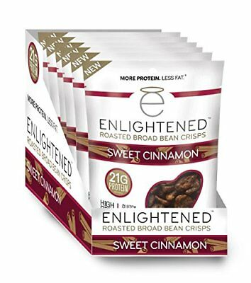 Enlightened Plant Protein Gluten Free Roasted Broad (Fava) Bean Snack, Sweet