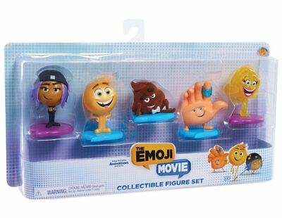 Just Play Emoji Movie Collectible Figures 5 piece Set new in box factory sealed