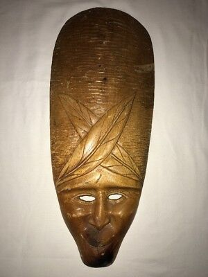 Vintage Hand Carved Wood African Mask