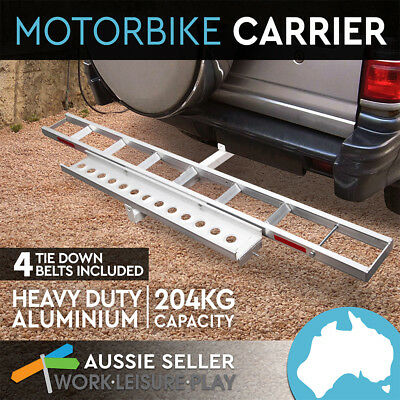 Motorbike Carrier Towbar Dirt Motor Bike Motorcycle 2 Arms Rack with Ramp