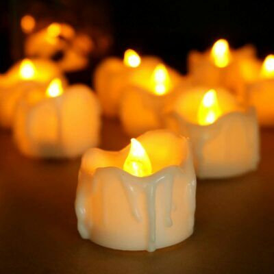 6 PCS Flameless Flicker LED Battery Operated Light Drips Candles with Timer