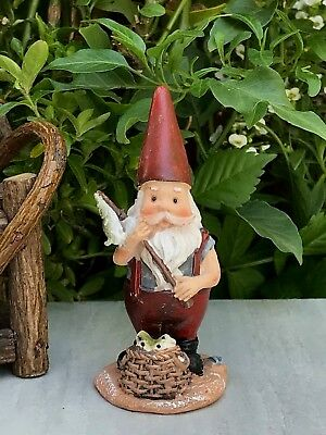Miniature Dollhouse FAIRY GARDEN Figurine ~ Mini Gnome Fisherman ~ NEW
