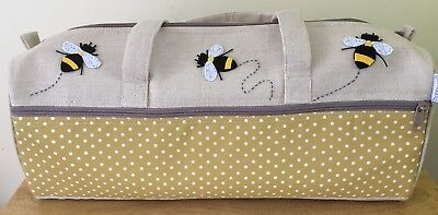 LONG KNITTING CRAFT BAGS 'BEE' DESIGN Super Quality with applique