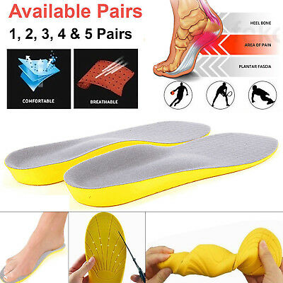Men Women Gel ORTHOPAEDIC Orthotic Sport Running Shoe Insoles Pad Arch Support