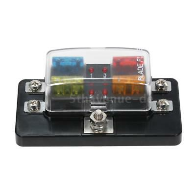 Pleasing 12V 24V 32V 4 Way Blade Fuse Box Holder Led Light Car Boat Marine Wiring 101 Akebretraxxcnl