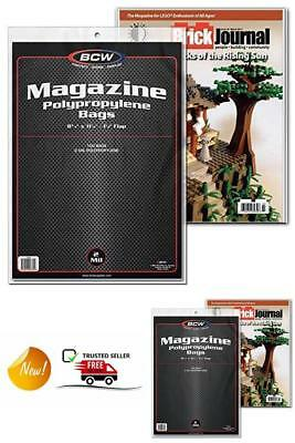 100 Magazine Bags, 1 1/2 inch flap for closure (Fits most regular magazines)