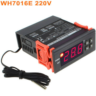 Digital Electronic Temperature Controller Thermostat WH7016E 12V/24V/110V/220V