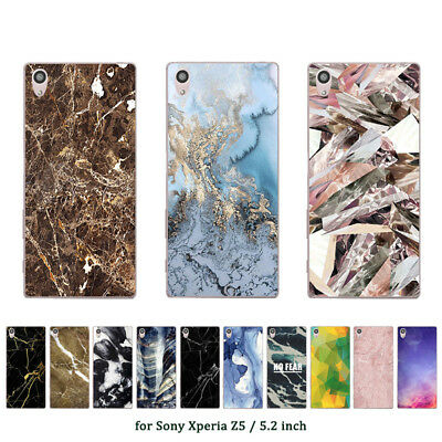"5.2"" Soft TPU Silicone Case For Sony Xperia Z5 Phone Back Cover Skin Prints"
