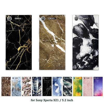 "5.2"" Soft TPU Silicone Case For Sony Xperia XZ1 Phone Back Cover Skins Prints"