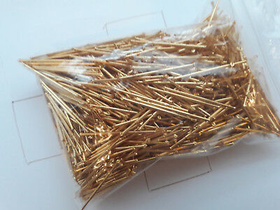 LOT of 1.25 lbs (566 Grams) scrap gold plated pins scrap gold recovery military