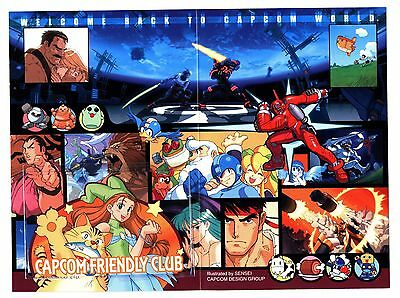 Capcom Friendly Club Japan Phonecard Anime Game Rockman Mega Man Street Fighter