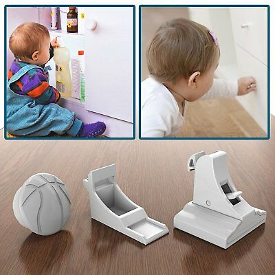 10PCS Magnetic Cabinet Child Proof Cupboard Drawers Invisible Safety Locks+3Keys