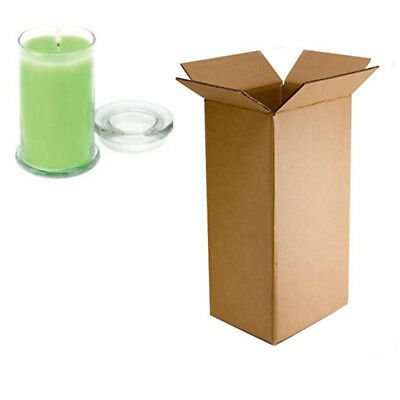 Double Wall Postage Box Cardboard Packaging Glass Candle Bottle Boxes 5 x 5 x 9""
